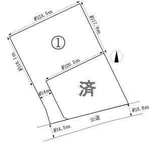伊那市 東春近(下殿島)2区画分譲地 売地 380万円